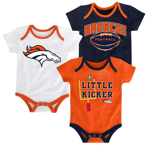 Broncos Little Kicker Onesie 3-Pack