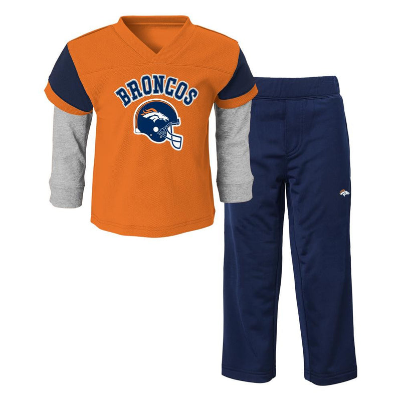 Broncos Infant/Toddler Jersey Style Pant Set