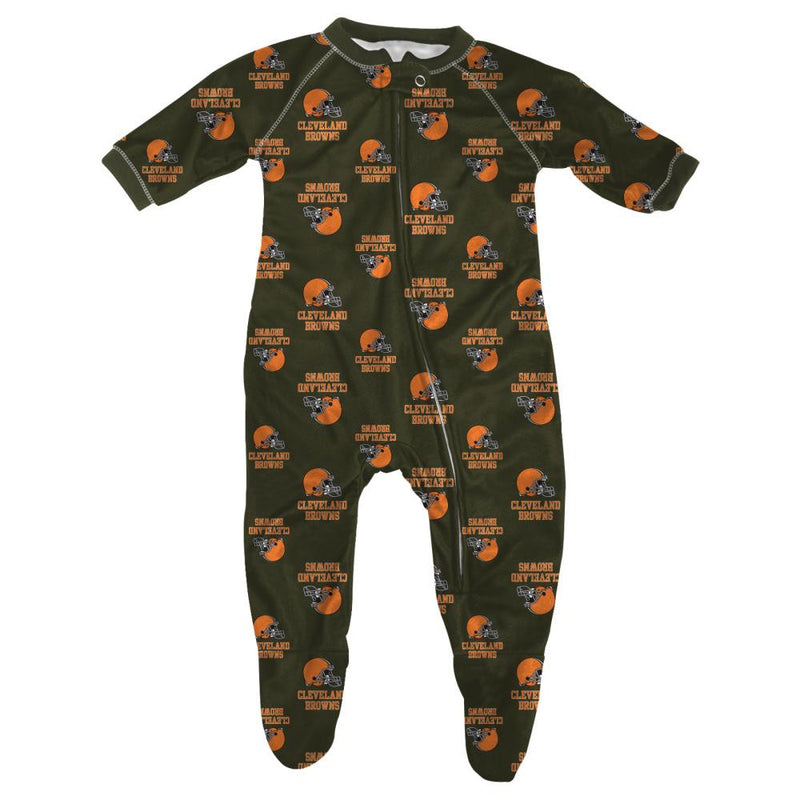 Browns Infant Zip Up Pajamas