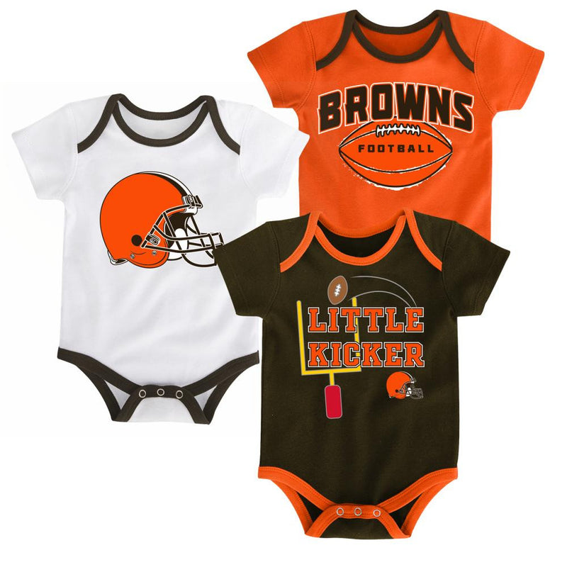 Browns Little Kicker Onesie 3-Pack