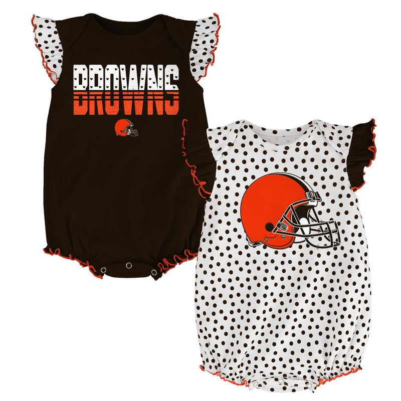 Browns Baby Girl Dotty Duo