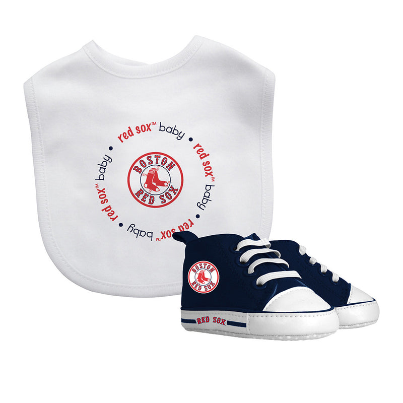 Red Sox Baby Bib with Pre-Walking Shoes