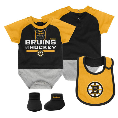 Bruins Baby Onesie, Bib and Bootie Set