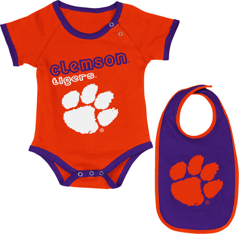 Clemson Tigers Baby Body Suit and Bib