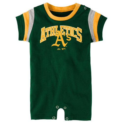 Athletics Baseball Baby Romper