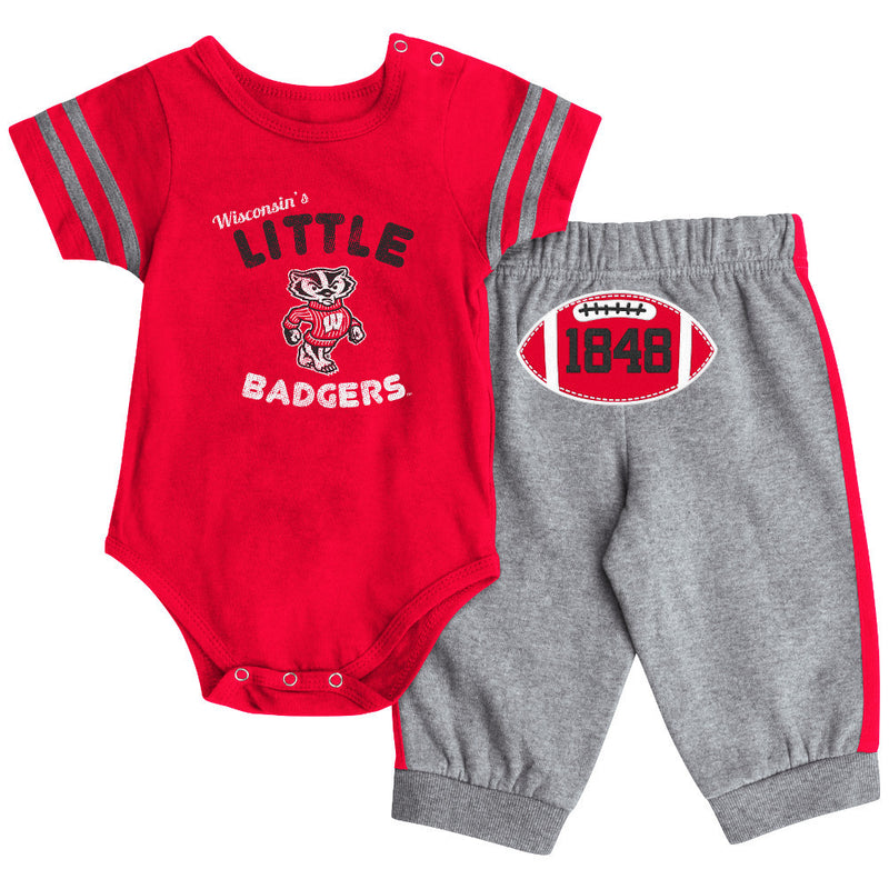 Wisconsin Short Sleeve Creeper & Pants Set