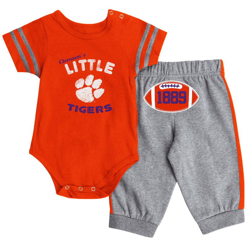 Clemson Short Sleeve Creeper & Pants Set