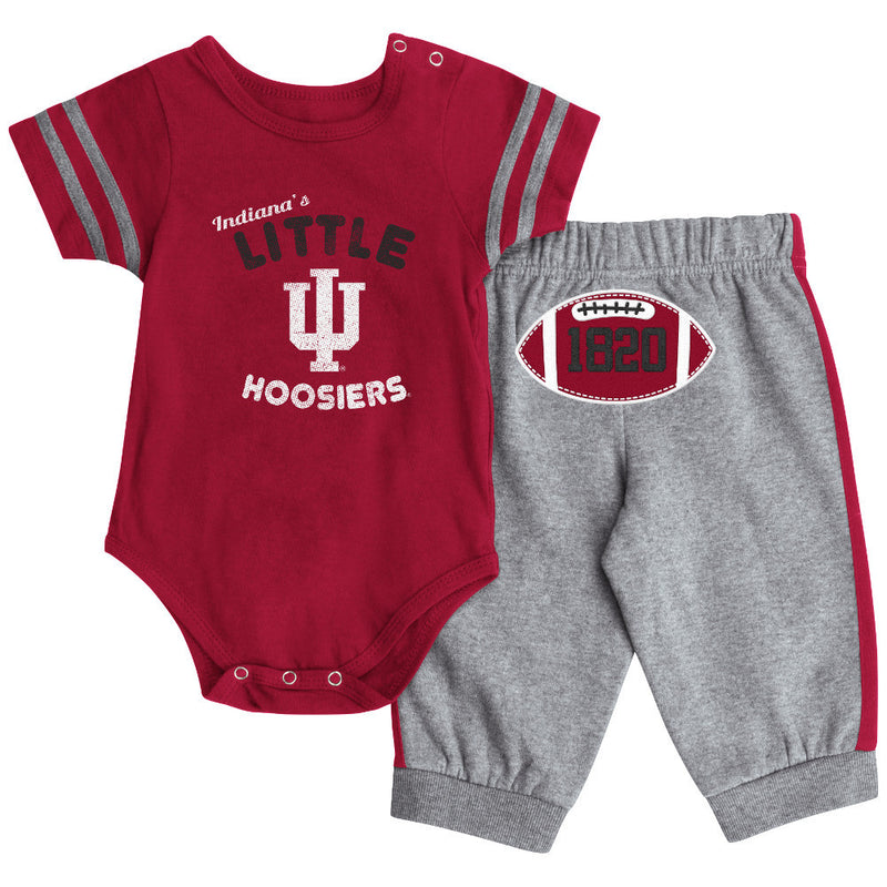 Indiana Short Sleeve Creeper & Pants Set