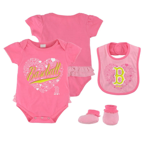 Boston Red Sox Fanatic Bodysuit, Bib & Booties