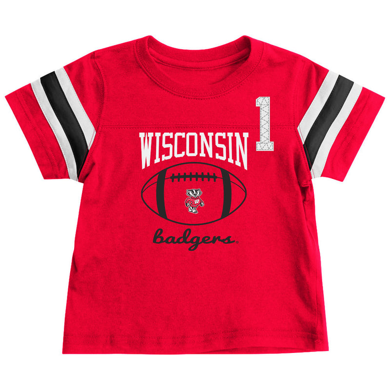 Wisconsin Badgers Infant Football Tee