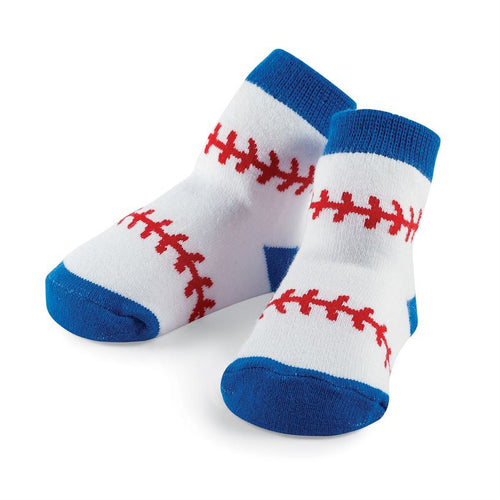 Baseball Infant Knit Socks
