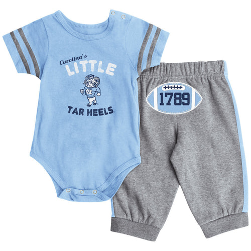 North Carolina Short Sleeve Creeper & Pants Set