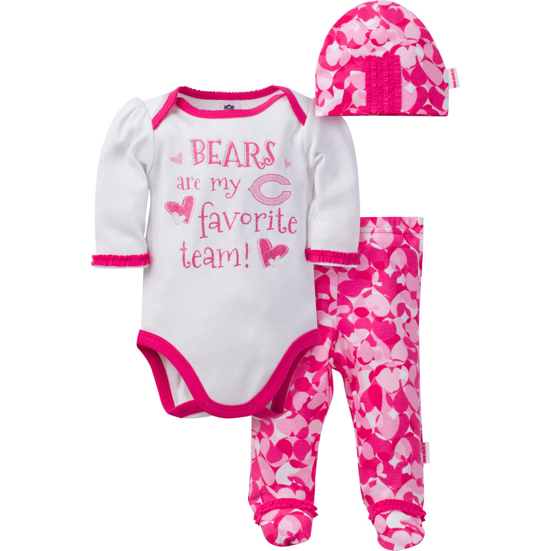 Bears Baby Girl 3 Piece Outfit