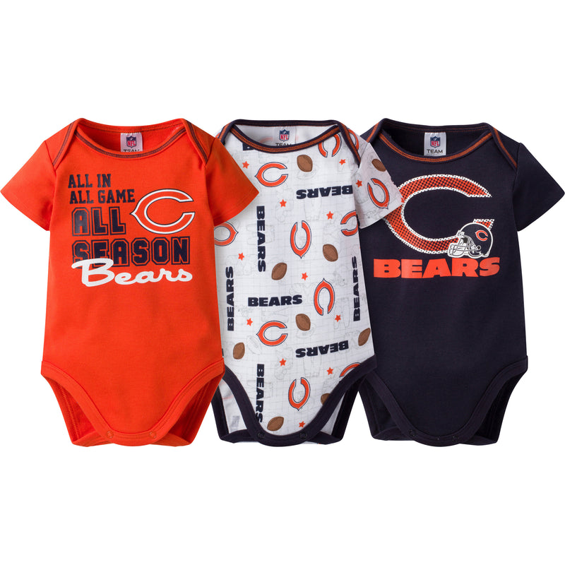 Bears Infant 3-Pack Logo Onesies