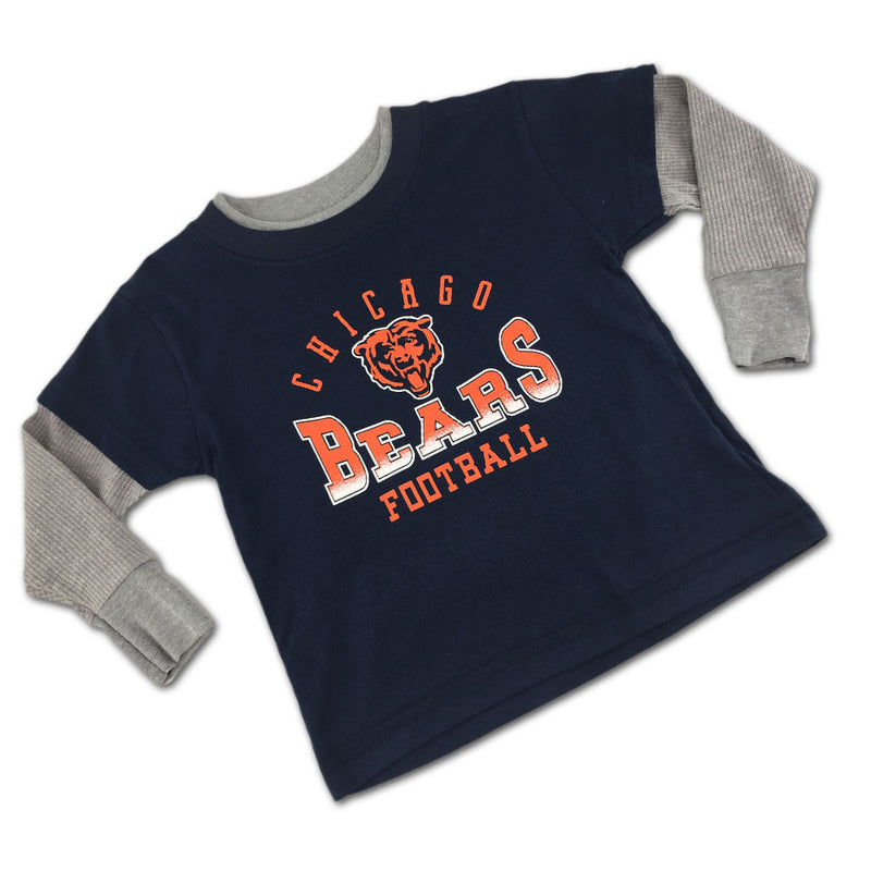 Chicago Bears Fan Thermal Layered Tee