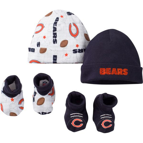 Chicago Bears Baby Caps and Bootie Set