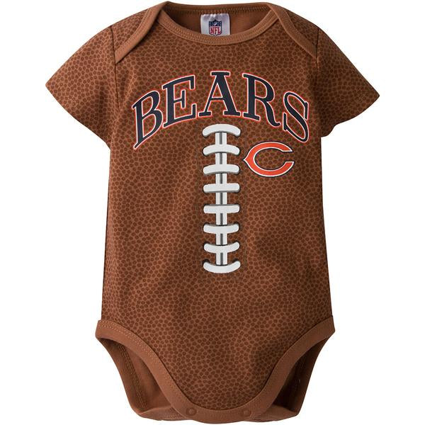 Chicago Bears Baby Football Bodysuit