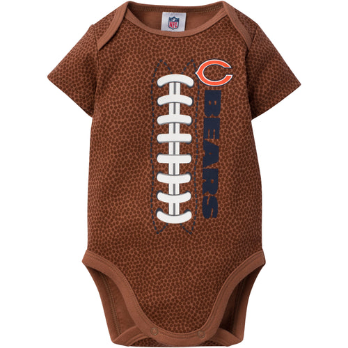 Chicago Bears Baby Boy Short Sleeve Football Bodysuit