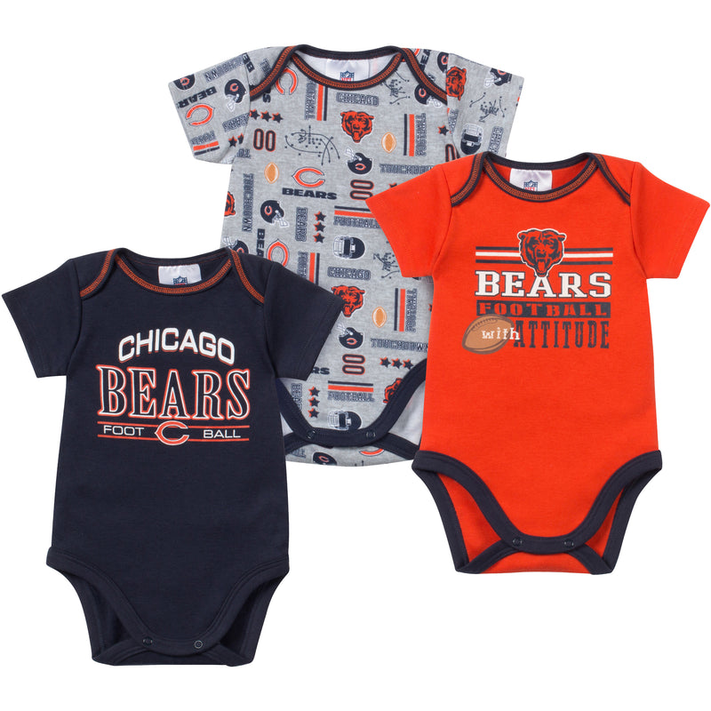 Baby Bears Fan Onesie 3 Pack