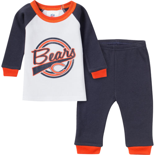 Bears 2 Pc Thermal PJs