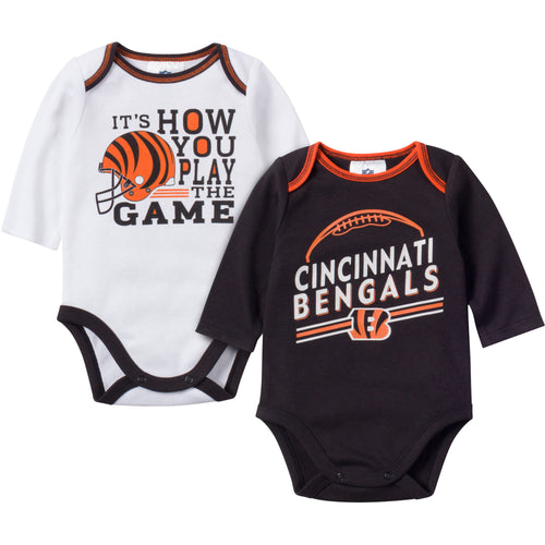 Baby Bengals Fan Long Sleeve Onesie 2 Pack