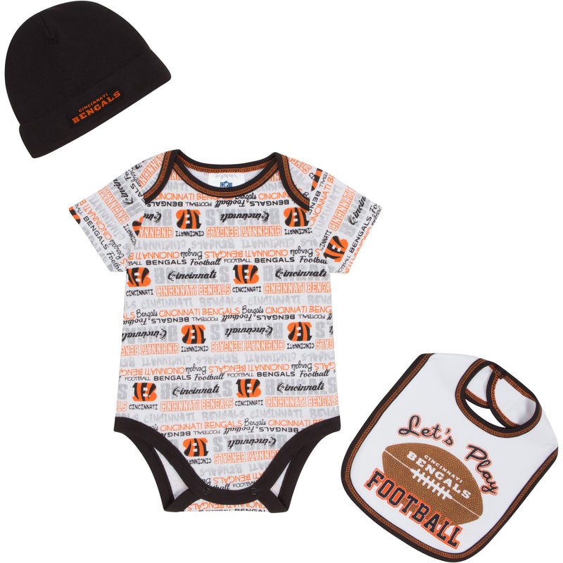 Let's Play Bengals Football Newborn Outfit