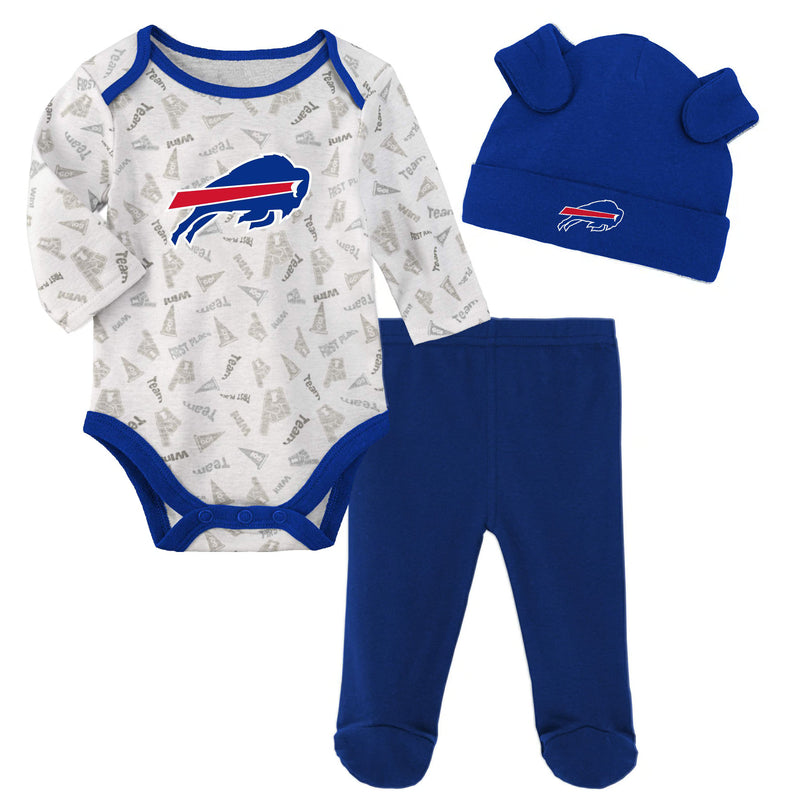 Bills Baby Bodysuit, Pants and Cap Set