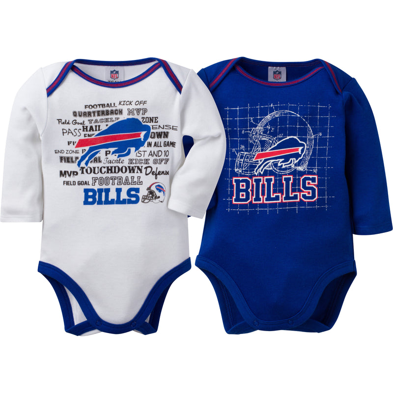 Bills Infant Long Sleeve Logo Onesies-2 Pack