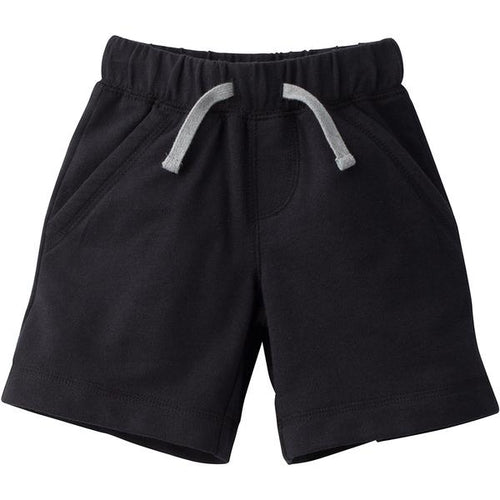 Infant and Toddler Boys French Terry Cotton Shorts - Black