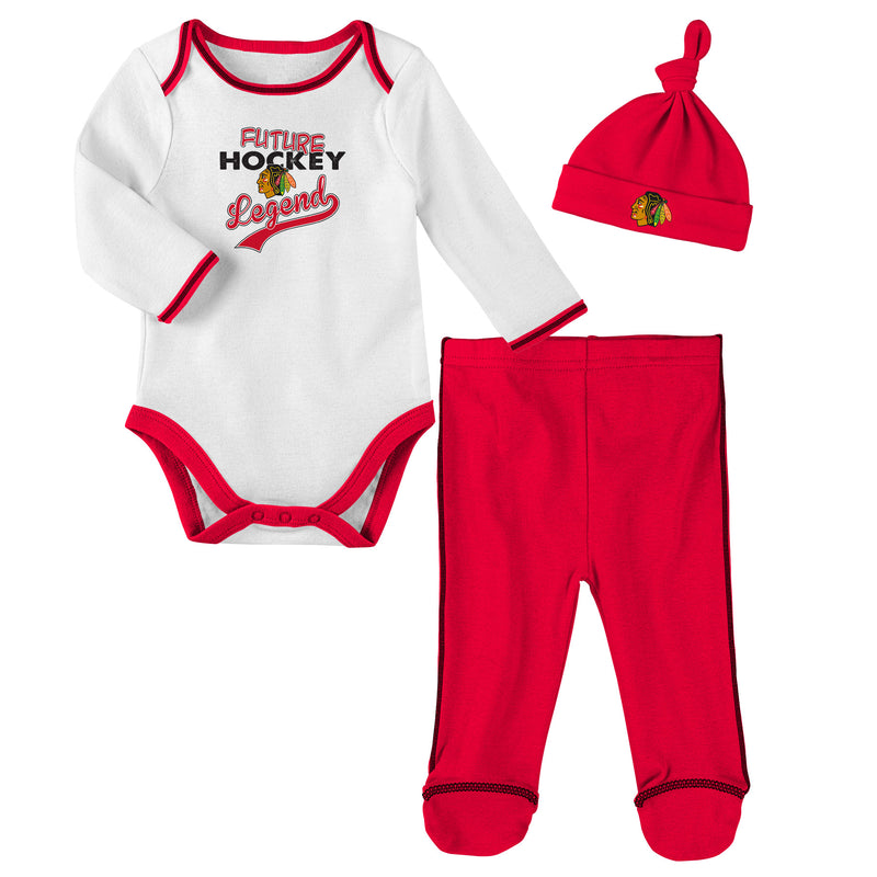 Chicago Blackhawks Future Hockey Legend 3 Piece Outfit