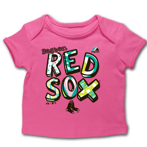 Red Sox Infant Bright Pink Tee-Shirt