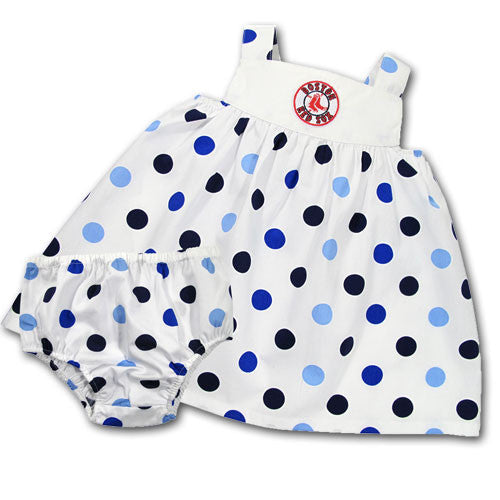 Red Sox Infant Polka Dot Sundress with Bloomers