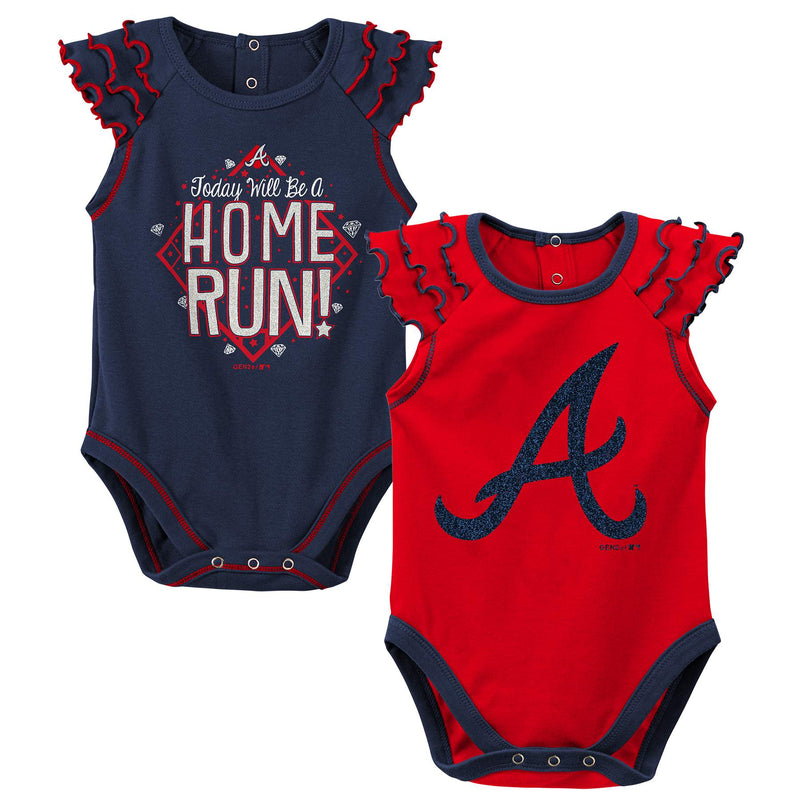 Braves Diamond Girl 2 Piece Bodysuit Set