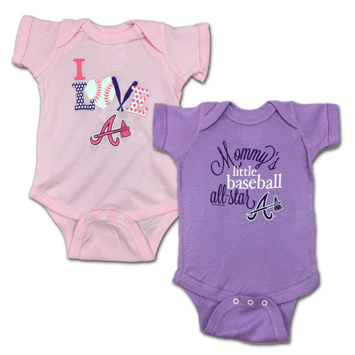 Braves Mommy's Little Baseball Allstar 2-Pack