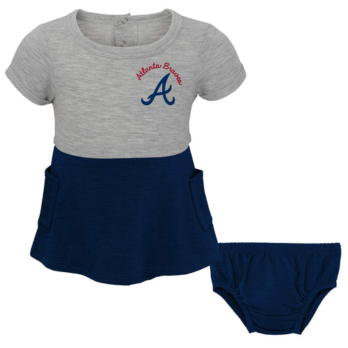Braves Team Babydoll Shirt and Diaper Cover Set