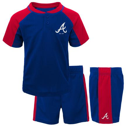 Braves Kid Baseball Shirt and Shorts Set