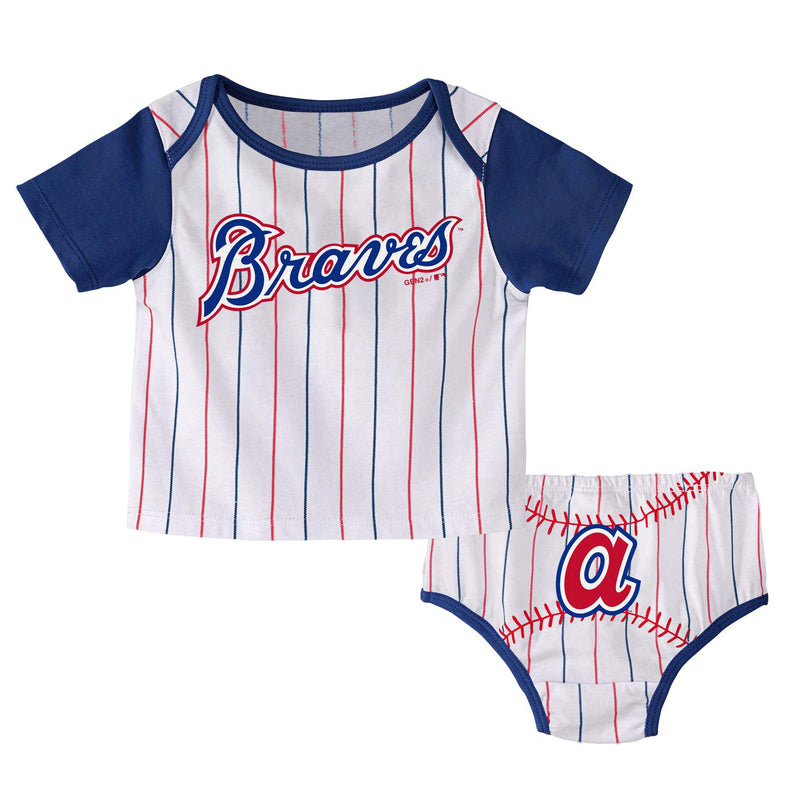 Braves Batter Up Tee and Diaper Cover