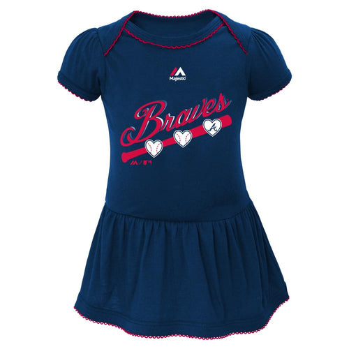 Braves Triple Play Baby Dress