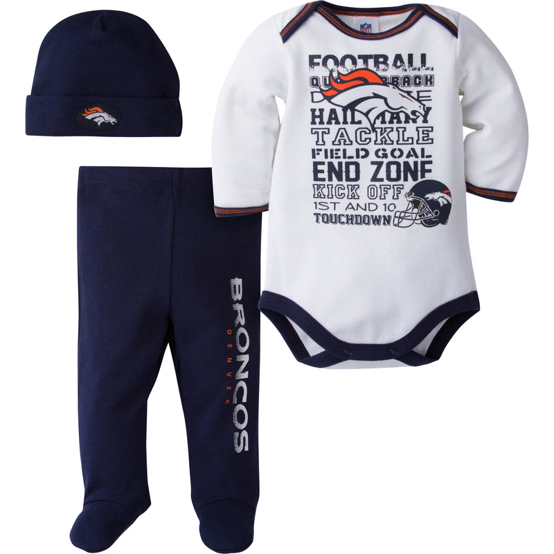 Broncos Baby 3 Piece Outfit