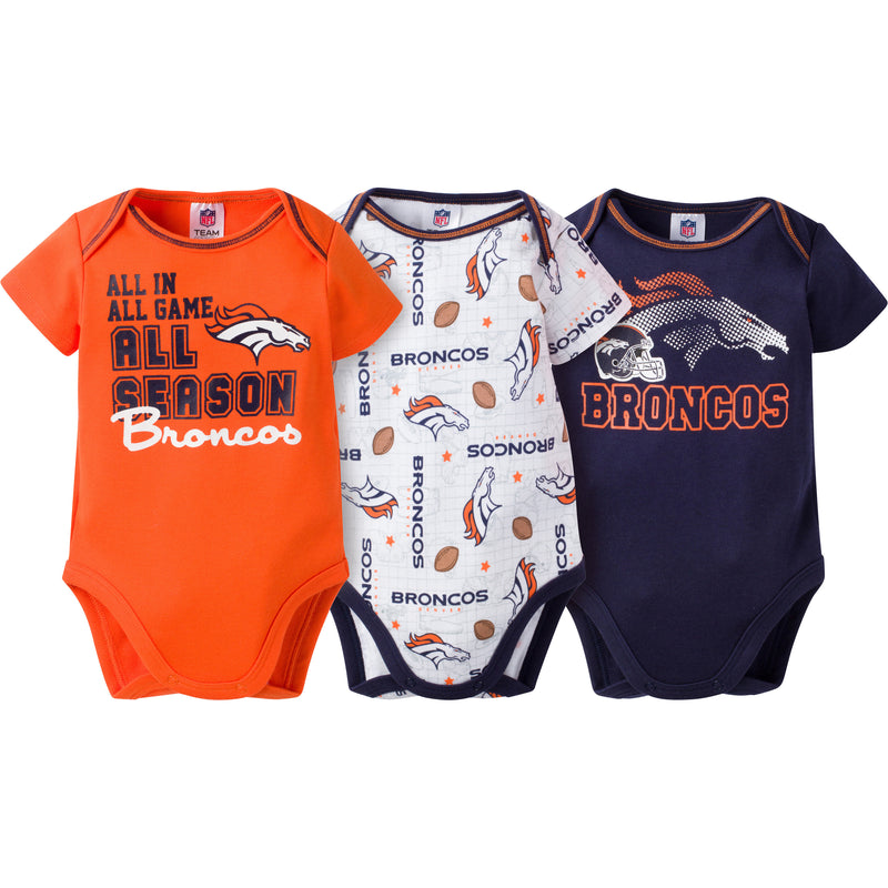 Broncos Infant 3-Pack Logo Onesies