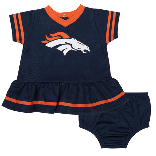 Broncos Baby Girl Team Dress with Bloomers