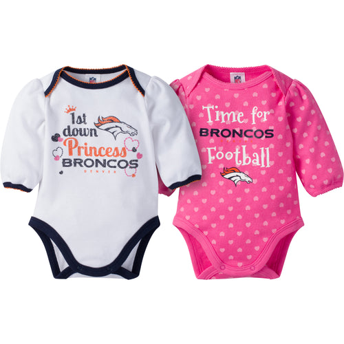 Broncos Baby Princess Bodysuit Set