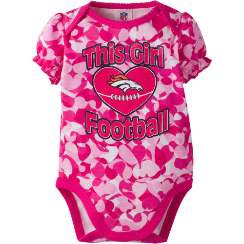 Broncos Infant Girl Camo Bodysuit