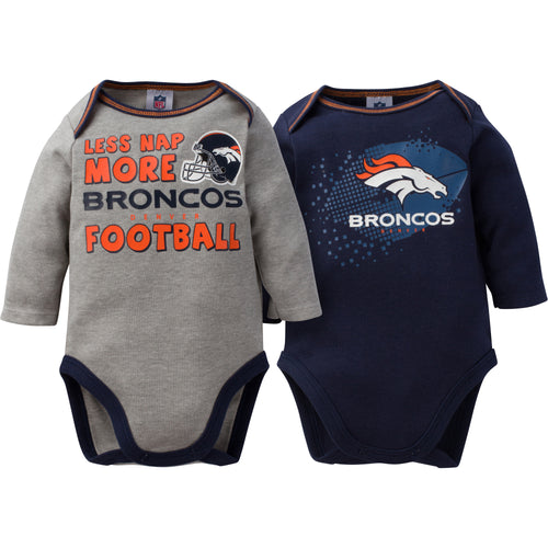 Baby Broncos Long Sleeve Onesie Two Pack