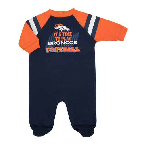 Broncos Baby Football Sleep N Play