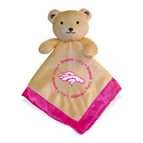 Pink Broncos Baby Security Blanket
