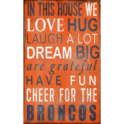Broncos Baby Nursery Wall Art
