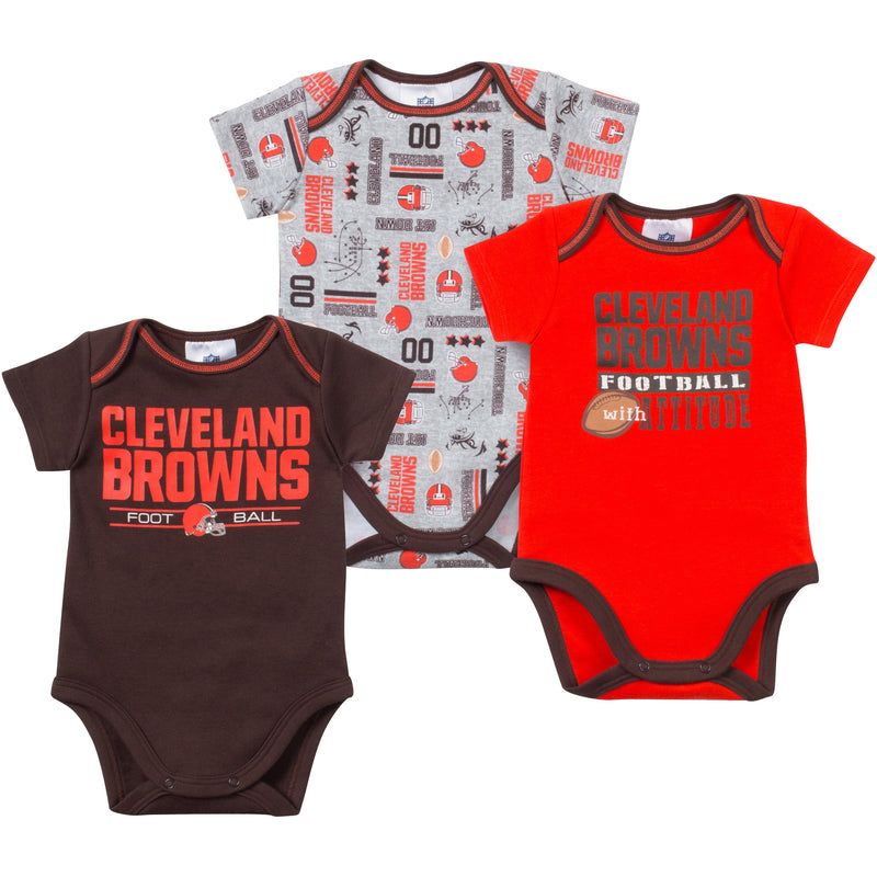 Baby Browns Fan Onesie 3 Pack