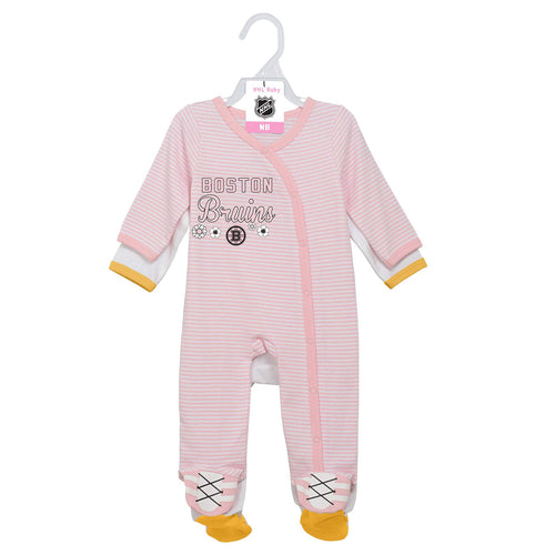 Bruins Girl Pink Infant Gameday Coveralls