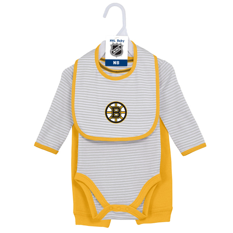 Baby Bruins Bodysuit, Bib and Pant Set